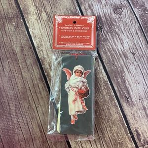 VTG NWT Set of 12 Victorian Snow Angel Gift Tags